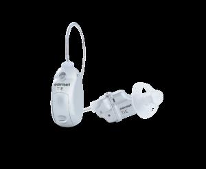 Beyaz earnet işitme cihazı